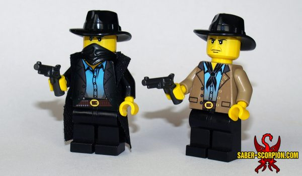 Custom LEGO Minifigure: Wild West Outlaw Leader