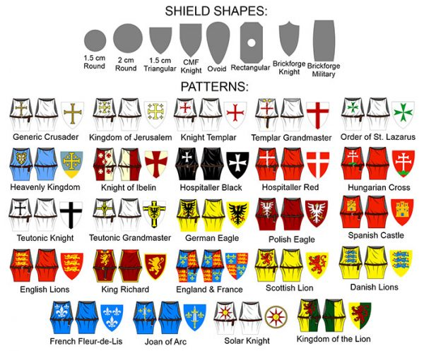 LEGO Minifigures Decals - Crusader Knight Surcoats