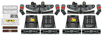 Custom LEGO Minifigure Decals: New Republic Power Armor