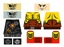 Custom Lego Minifigure Stickers: Sci-Fi Doom Rangers