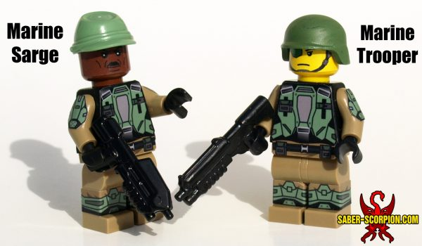 Custom Minifig: Space Corps Marine