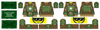 Post-Nuclear Fallout Custom LEGO Decals: Combat Armor