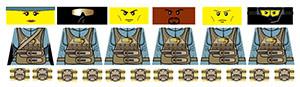 Espionage Series 4 Rat Patrol Squad LEGO Minifig Decals