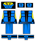 Immortal Combatant Male Ninja LEGO Minifigure Decals