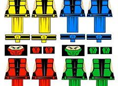 Immortal Kombat Male Ninja LEGO Minifig Decals