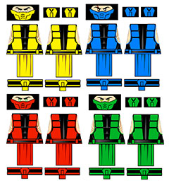 Immortal Kombat Male Ninja LEGO Minifig Decals