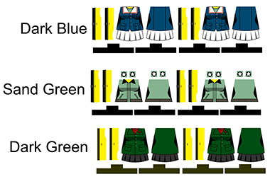 Custom LEGO Minifig Stickers: Panzer School Girls