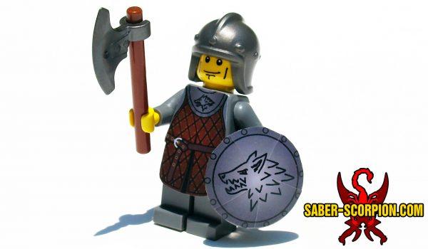 Fantasy Dark Wolf Guard Minifigure
