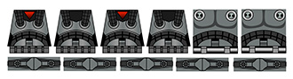 Space Wars Dark Forces Pack Star Troopers Minifig Decals