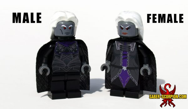 Fantasy LEGO Minifig Dark Drow Elf Svartalf Lord