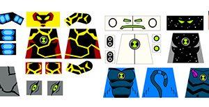 Lego Alien Boy Ben 10 Superhero Decal Collection