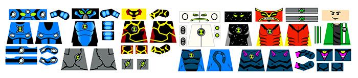 Alien Boy Ben Superhero Decals Pack 10