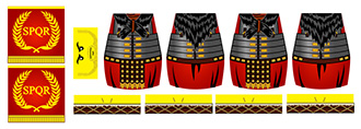 Historic Roman Standard-Bearer LEGO Minifig Decals