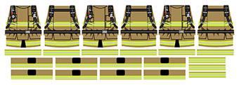Modern Fireman LEGO Minifig Decals