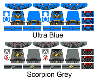 Custom LEGO Minifig Warhammer Space Marine Decals