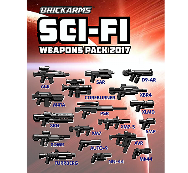 Brickarms Sci-Fi Weapons Pack 2017
