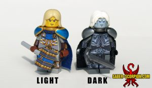 Lich and Living Paladin King Lords Custom LEGO Minifigures