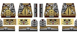 Custom Lego Minifig Alien Predator Skullhunter Decals