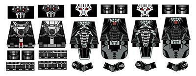 Space Wars Star Lord Dark Skull Custom Lego Minifig Decals
