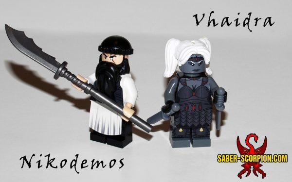 Vhaidra and the Destiny of Nikodemos Custom Lego Minifigures
