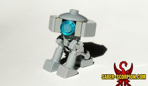 Custom LEGO brick-built minifigure astromech T3 droid